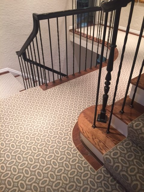 Custom fitted broadloom carpet by our workroom